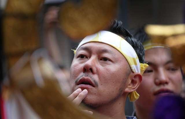 Sanja Matsuri participant. Japan.