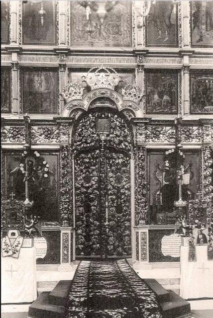 Kholomogory, Transfiguration Cathedral gates.