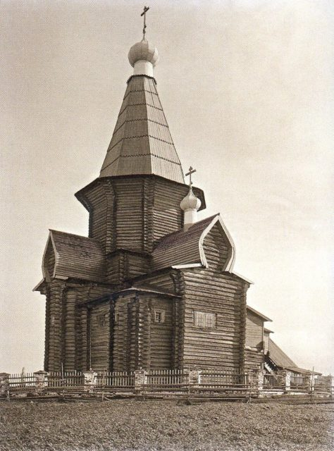 Shenkursk wooden church view