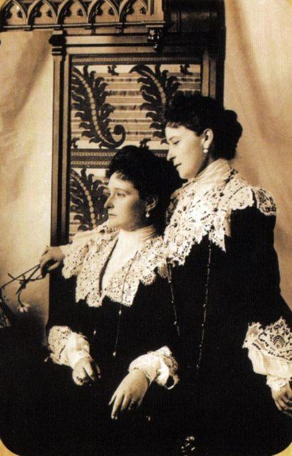Empress Empress Alexandra Feodorovna (sits) and Grand Duchess Elizabeth Feodorovna.