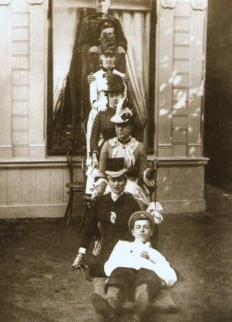 Grand Duchess Elizabeth Feodorovna. In the photo, he sits on the ground.