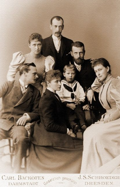 Grand Prince Sergey Alexandrovich and Grand Duchess Elisaveta Feodorovna (Ella) visiting relatives in Darmshadt.