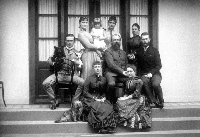 Grand Prince Sergey Alexandrovich and Grand Duchess Elisaveta Feodorovna visiting relatives in Darmstadt. The year 1889.
