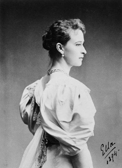 Her Imperial Highness Grand Duchess Elizabeth Feodorovna. 1894