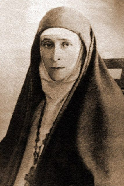 Grand Duchess Elizabeth Feodorovna. Founder and head of the Martha and Mary Convent of the Sisters of Mercy in Moscow.