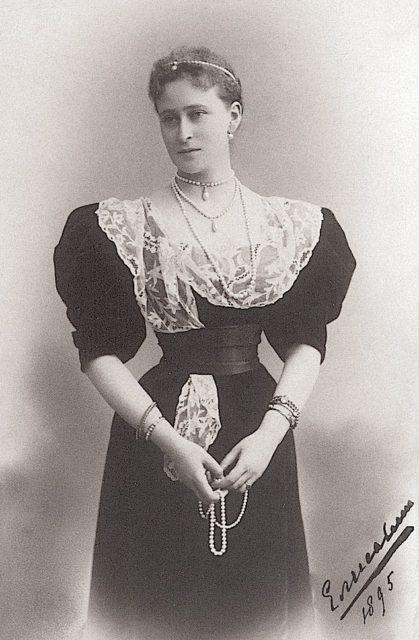 Her Imperial Highness Grand Duchess Elizabeth Feodorovna. 1895