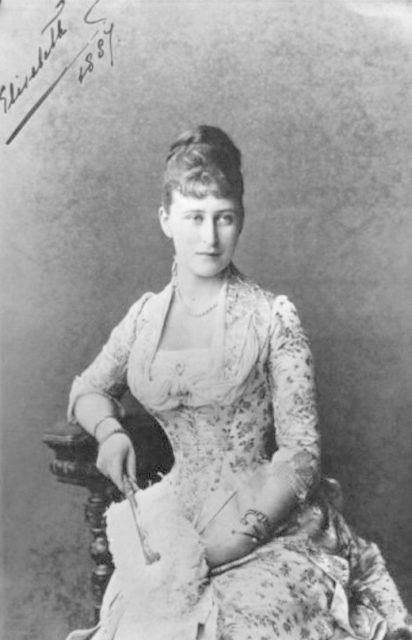 Her Imperial Highness Grand Duchess Elizabeth Feodorovna. 1887
