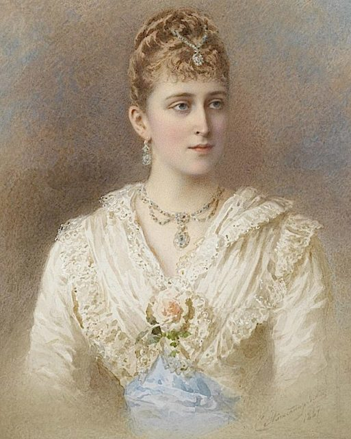 Portrait of Grand Duchess Elizabeth Feodorovna. Stepan Alexandrovsky. 1887 year.