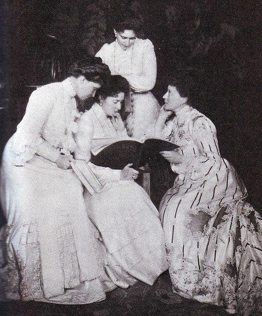 Hessian sisters: Princess Irena, Empress Russian Alexandra Feodorovna, Grand Duchess Elisaveta Feodorovna, Princess Victoria.