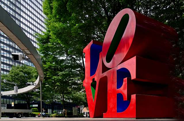 LOVE sculpture in Shinjuku.