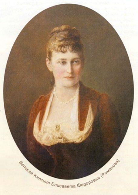 Portrait of Grand Duchess Elizabeth Feodorovna.