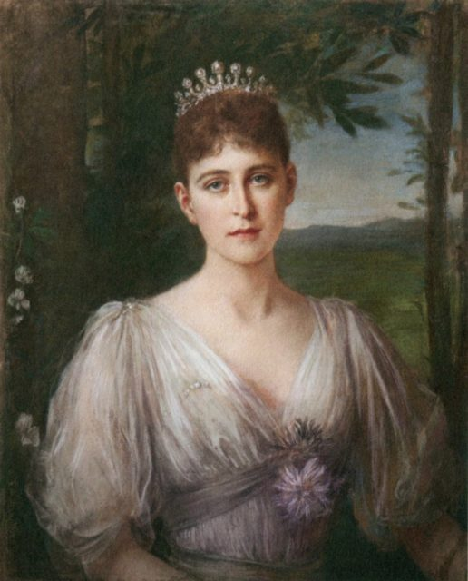 Portrait of Grand Duchess Elizabeth Feodorovna. The artist Friedrich August von Kaulbach.
