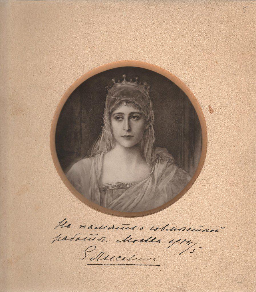 Portrait of Grand Duchess Elizabeth Feodorovna. The artist Friedrich August von Kaulbach.