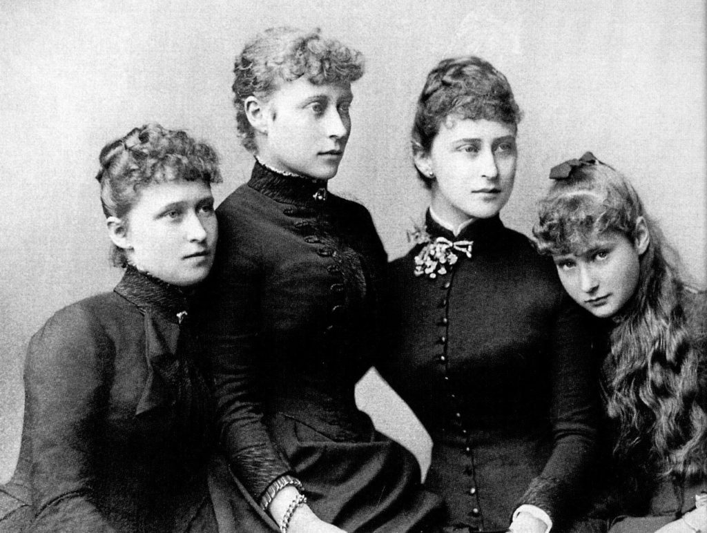 Sisters of Hessian princesses Irena, Victoria, Elizabeth (Ella) and Alice (Alix).