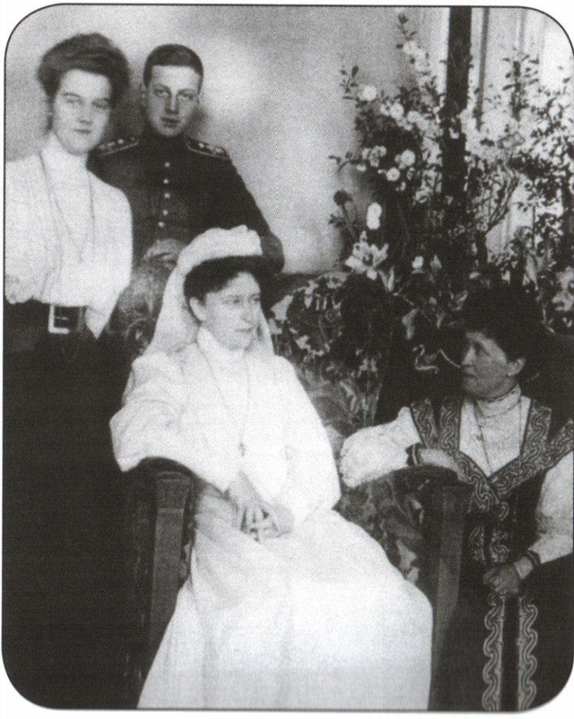 The Grand Duchess Elisaveta Feodorovna, Irena Prusskaya, Maria Pavlovna and Dmitri Pavlovich.