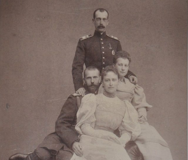 Two married couples: Sergei and Ella, Pavel and Alexandra.