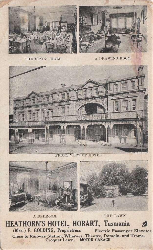 Heathorn's Hotel, Hobart, Tasmania - circa 1905