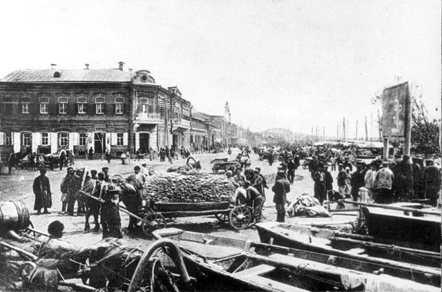 Astrakhan, fish market