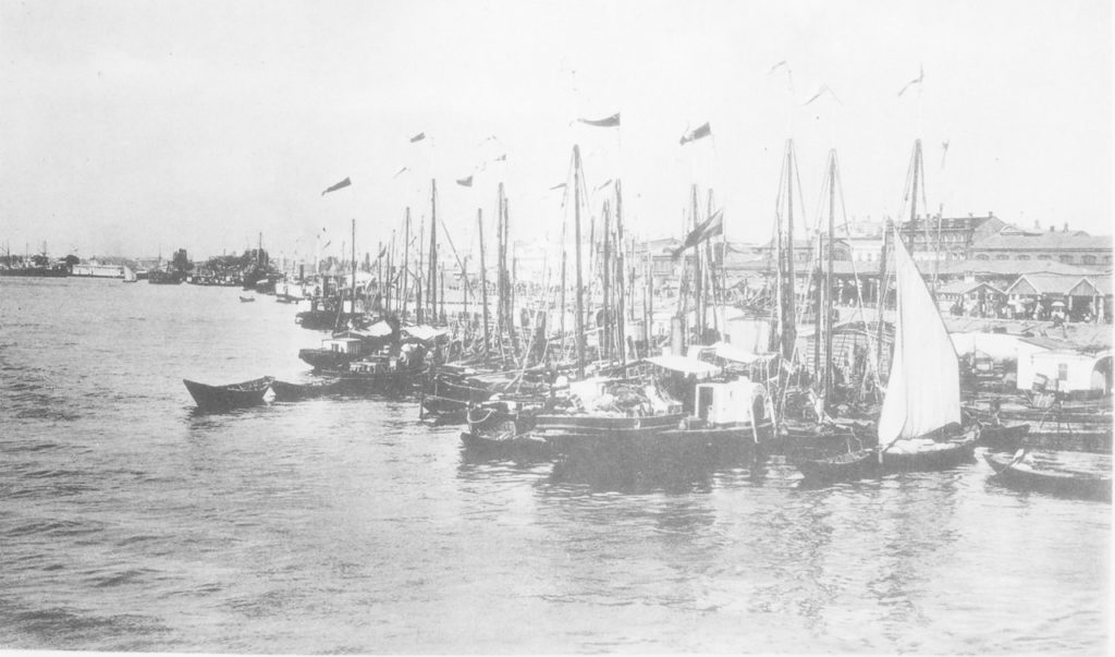 Astrakhan harbor, merchant boats