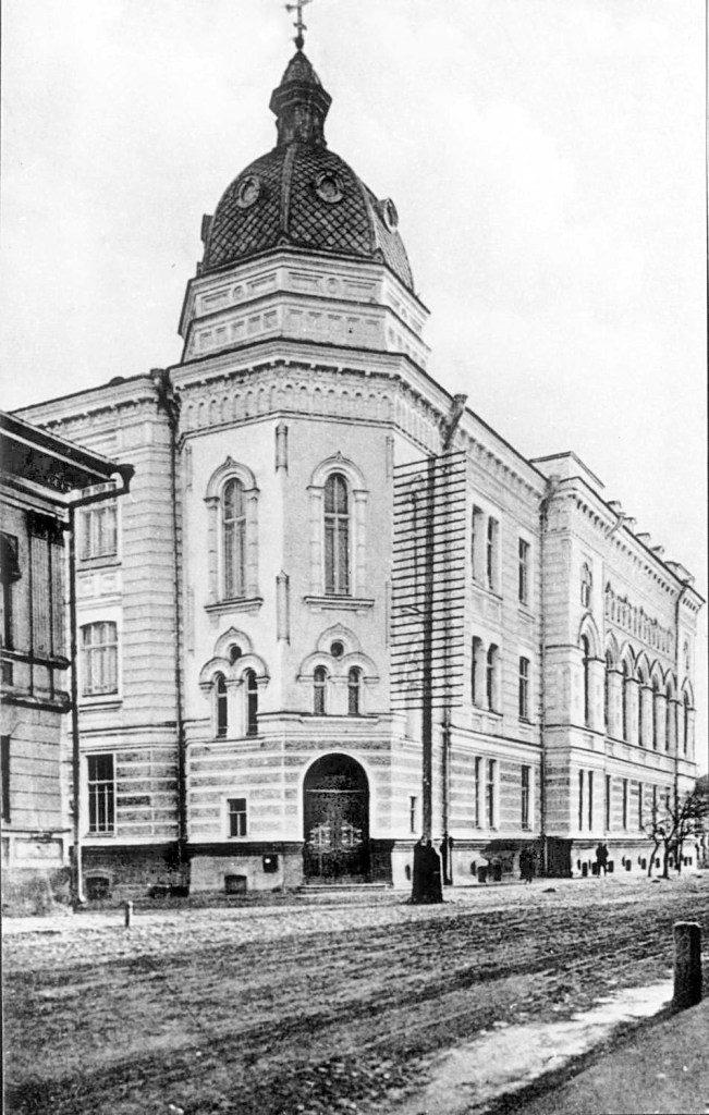 Astrakhan on Volga River - building