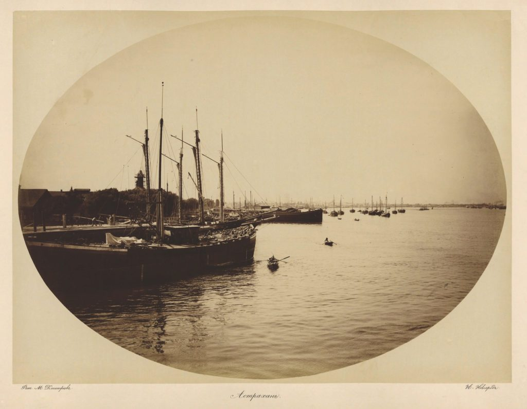 Astrakhan, Boats in harbor