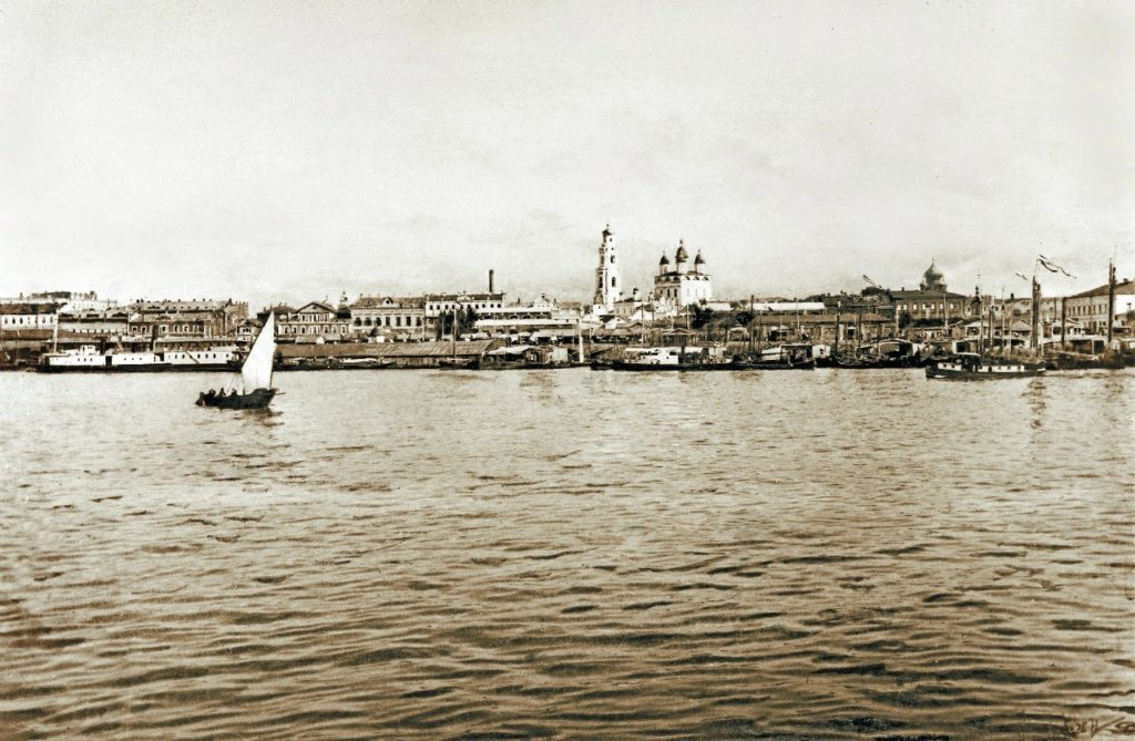 Astrakhan, view from Volga river