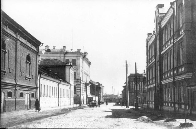 Astrakhan streets, South Russia city on Volga River