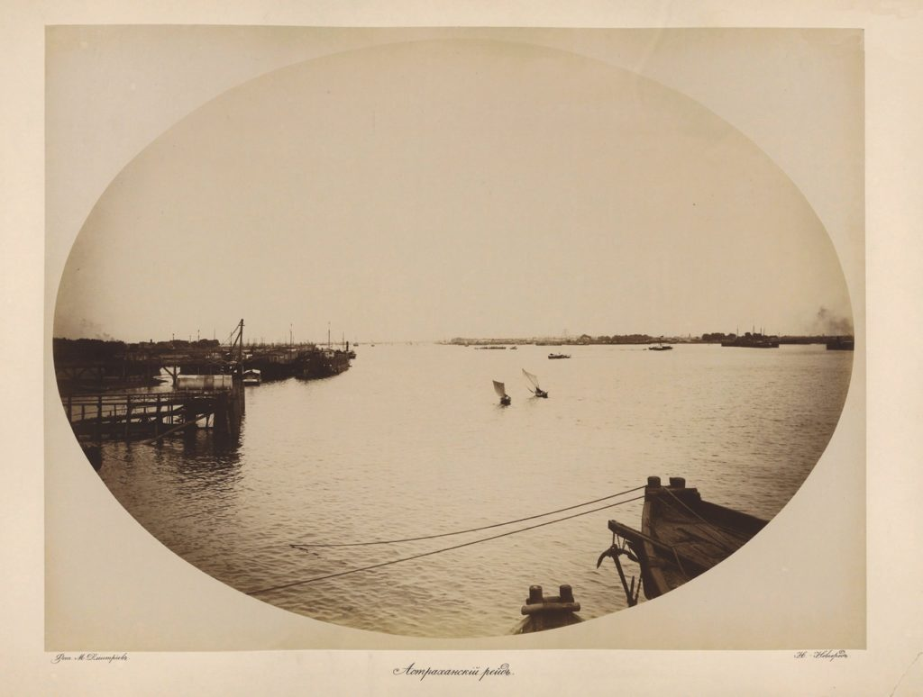 Astrakhan, fishing boats