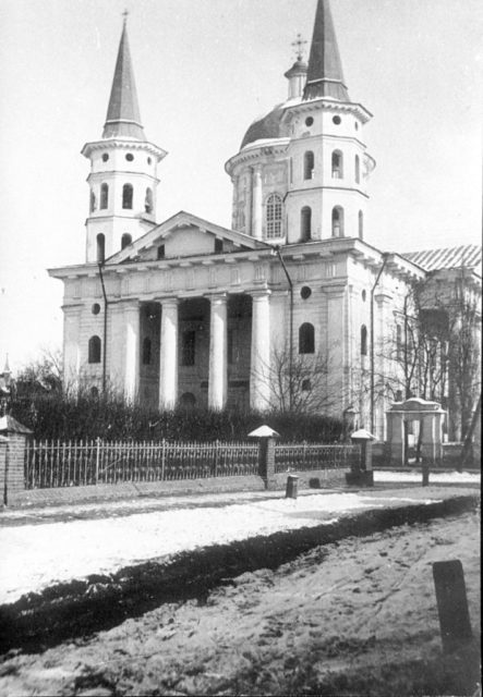 Church in Astrakhan, South Russia city on Volga River