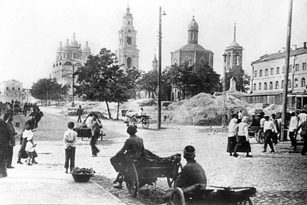 Astrakhan, busy street