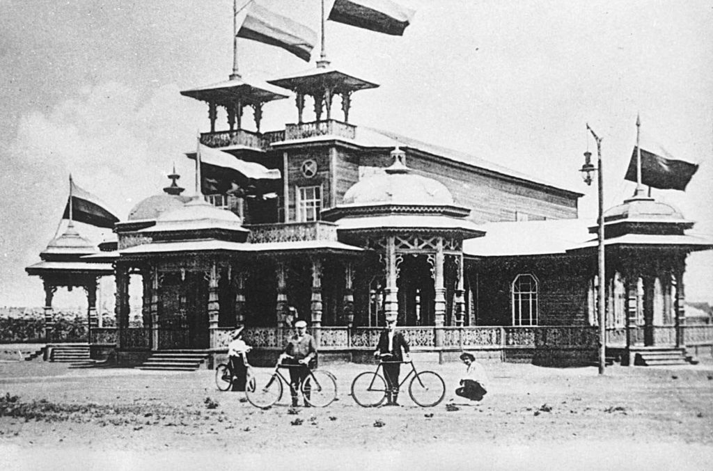Astrakhan, Station in the garden of cyclists