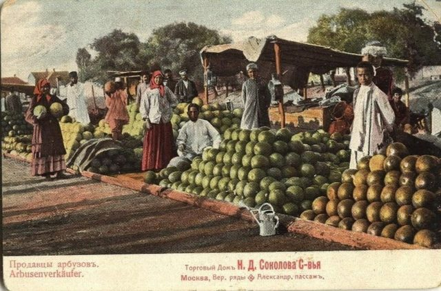 Astrakhan, Watermelon sellers