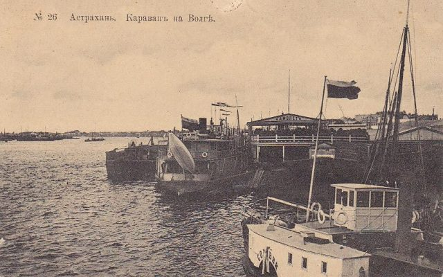 Caravan on Volga River