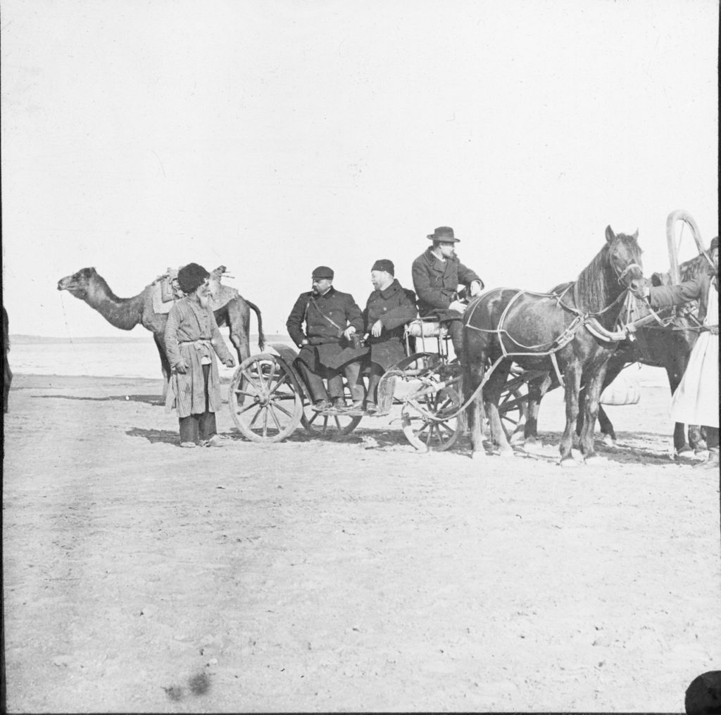 K.E.Vaylerstrom on a walk near Astrakhan