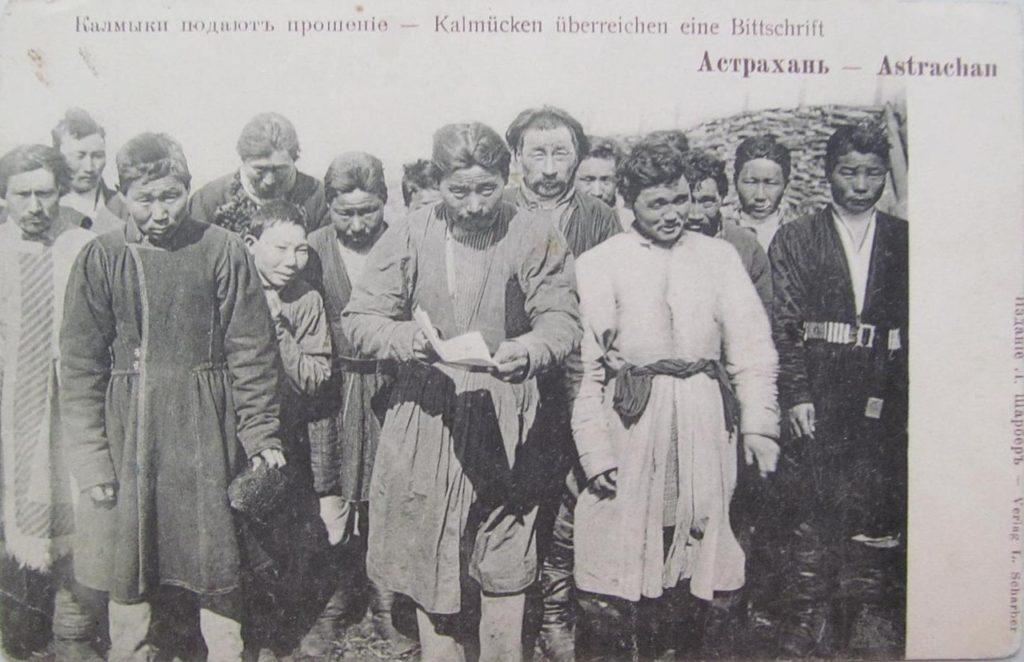 The Kalmyks petition. Astrakhan, South Russia city on Volga River