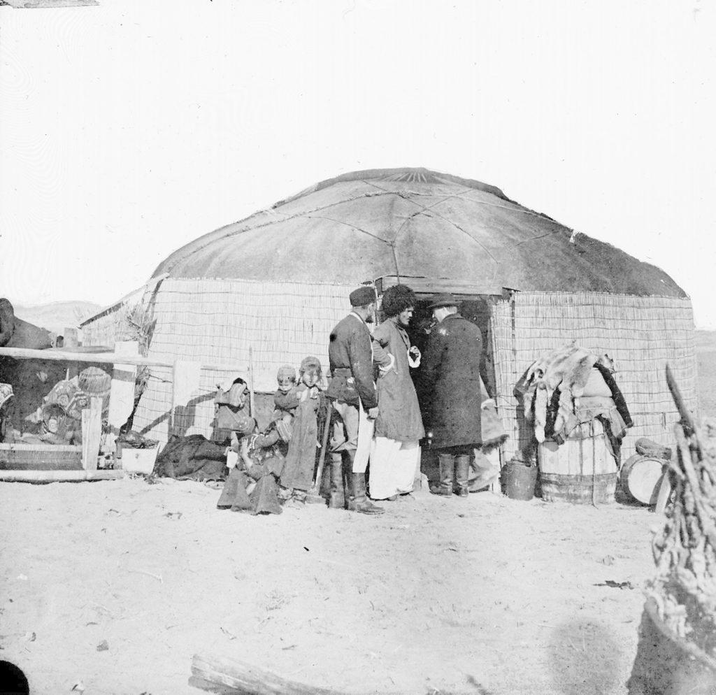 Visiting the yurt of the Tekins. Astrakhan, South Russia city on Volga River