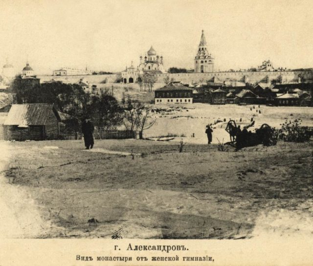 Alexandrov, the view of the monastery from the women's gymnasium.