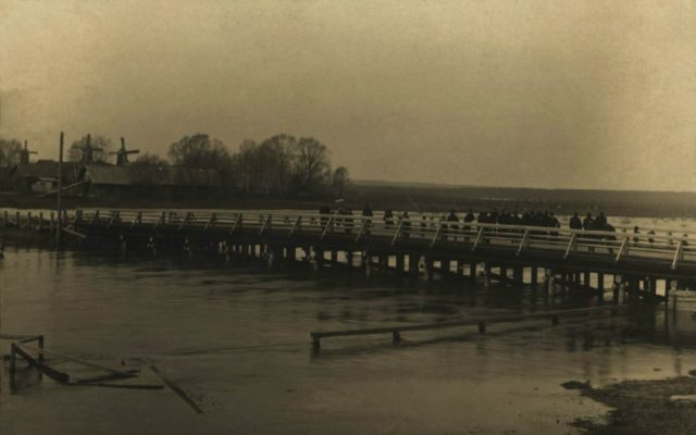 Bridge over the Gray River. Alexandrov