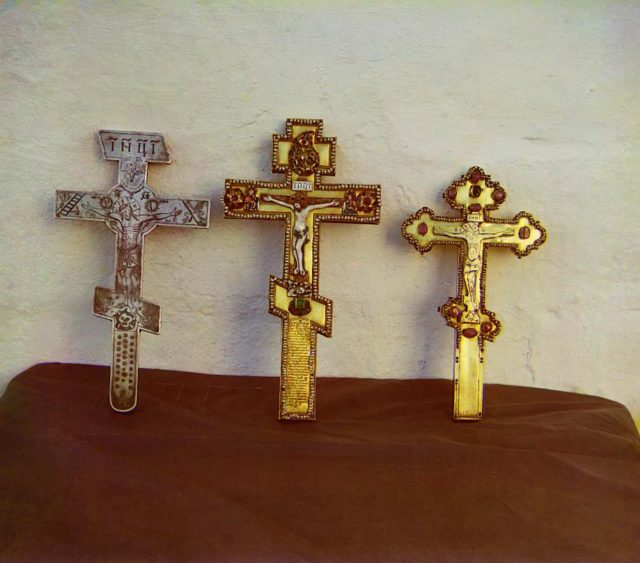 Crosses. Gift of Theodore, Cyril and Natalia Naryshkin. Uspensky Monastery