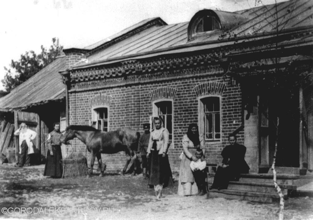 Yard near the house of merchant Pervushin. Alexandrov