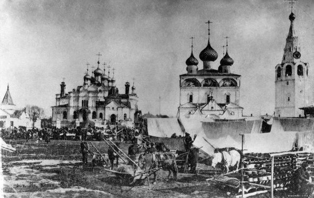 Kazan Cathedral  - Vyazniki of Vladimir Gubernia - market