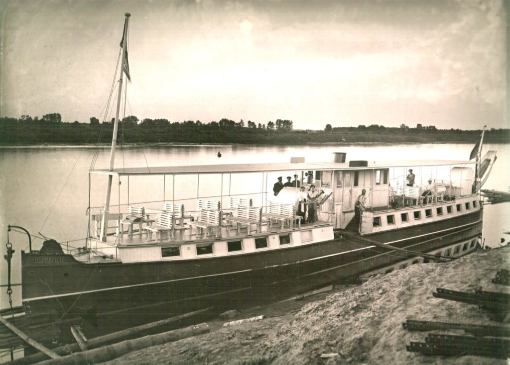 "Steamship ""Fast"", 1912 - Gorokhovets of Vladimir Oblast, Russia, the town on the highway from Moscow to Nizhny Novgorod and Klyazma river."