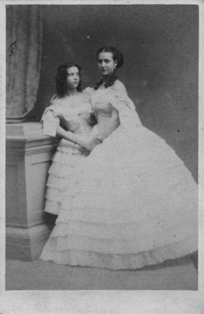 Danish Princess Maria Dagmar  with the Queen of Denmark Queen Louise.