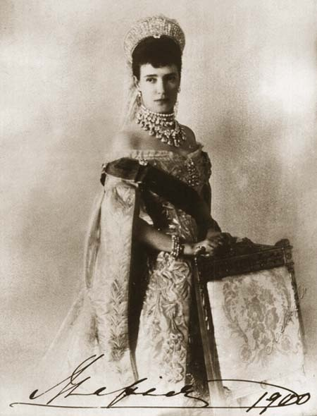Dowager Empress Maria Feodorovna. 1900 year.