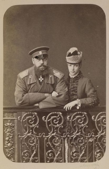 Emperor Alexander III and his wife Empress Maria Feodorovna.