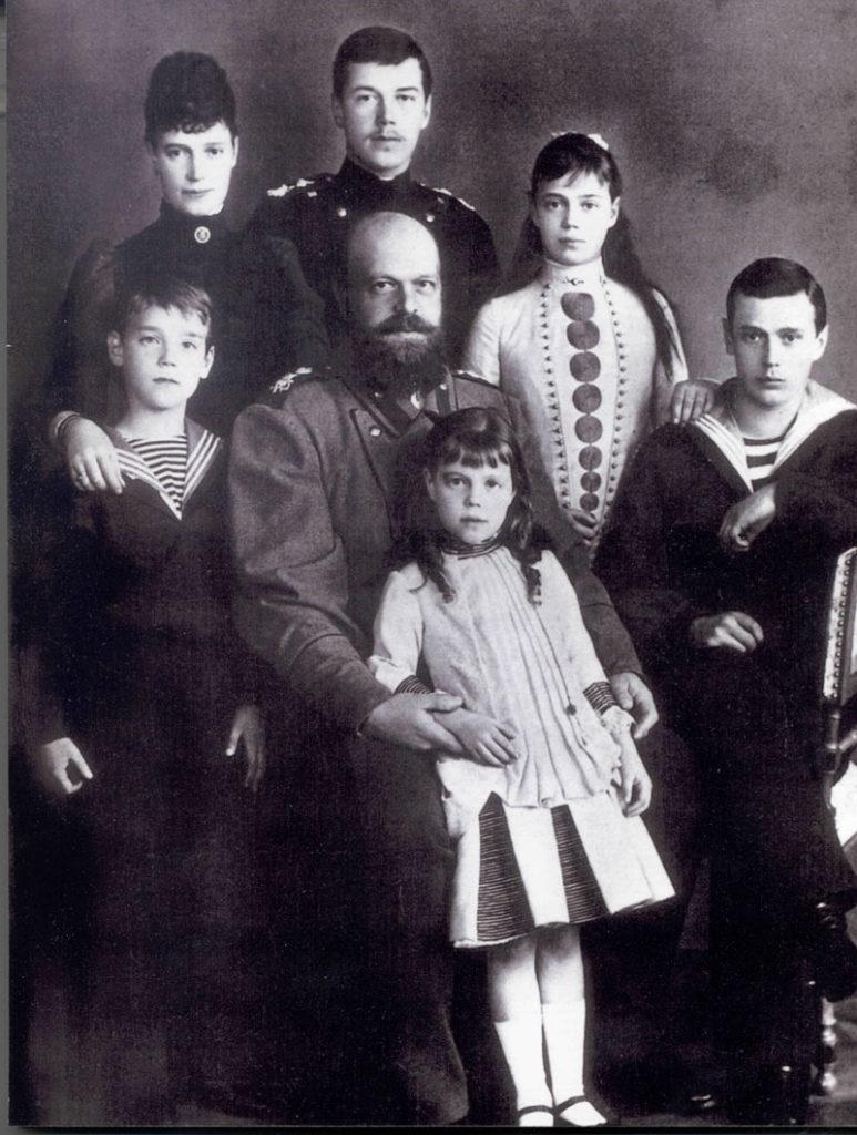Emperor Alexander III with Empress Maria Feodorovna (Dagmar) and children.