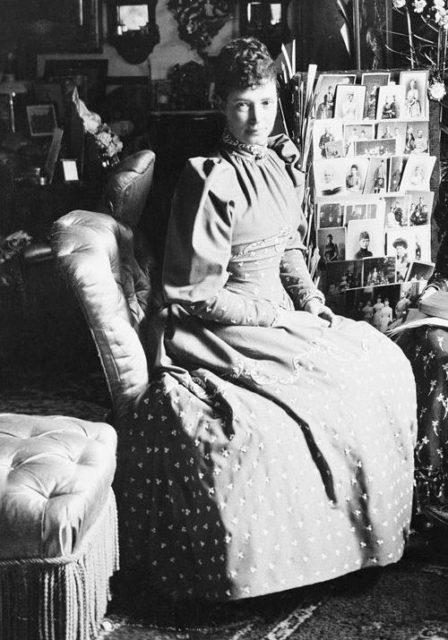 Empress Maria Feodorovna (Dagmar) the wife of Emperor Alexander Alexandrovich (Alexander III).