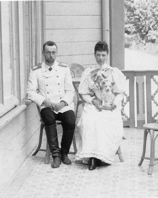 Empress Maria Feodorovna (Dagmar) with her son Grand Duke George Alexandrovich.