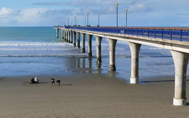 New Brighton Pier.Christchurch. NZ.
