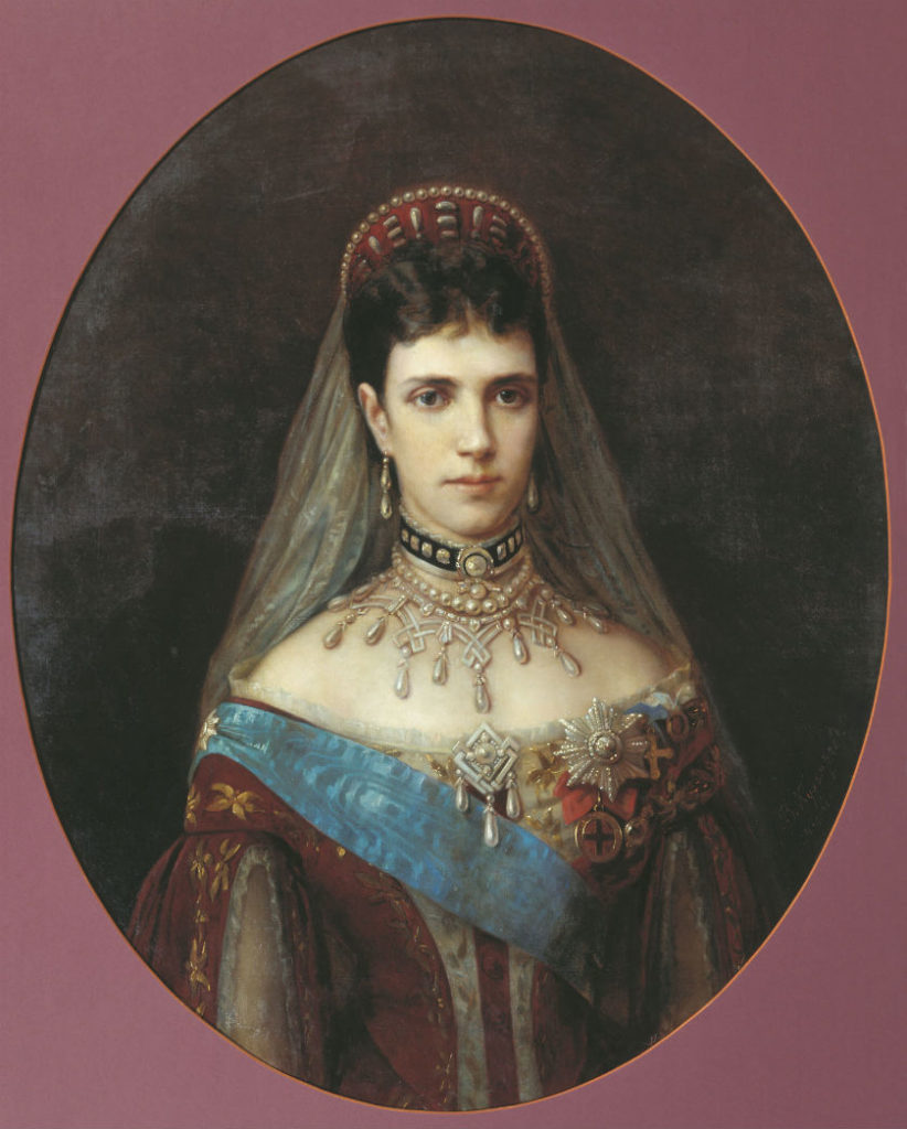 Portrait of Empress Maria Feodorovna (Dagmar) wife of the Emperor Alexander Alexandrovich.